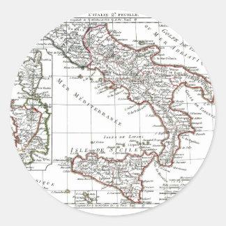 1806地図- L'Italie (石鹸水) ラウンドシール