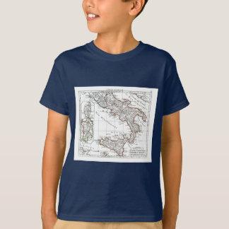 1806地図- L'Italie (石鹸水) Tシャツ