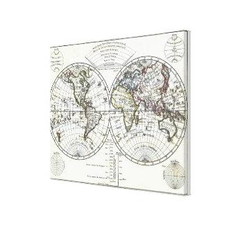1806年の地図書の地図: Eustache Hérisson著La Mappemonde キャンバスプリント