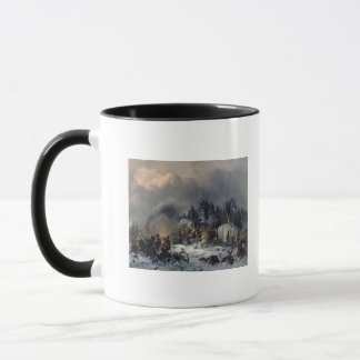 1812年にロシアフランス人戦争からの場面 マグカップ