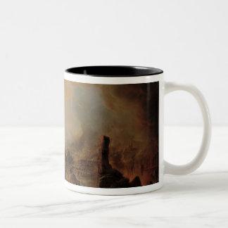1812年1854年にモスクワの焼却 ツートーンマグカップ