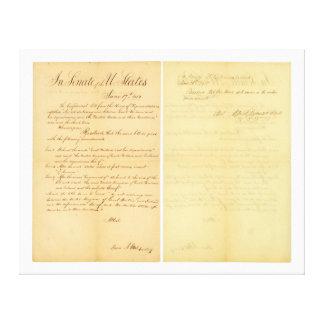 1812 HR 12A-B3の家及び上院の宣言戦争 キャンバスプリント