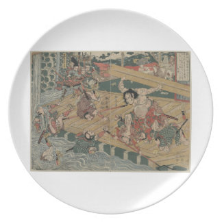 1813年頃武士の戦い プレート