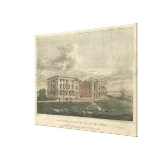 1814年の大火災の後の国会議事堂の眺め キャンバスプリント