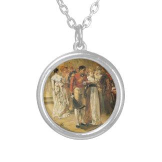 1815年にリッチモンドの球の公爵夫人 シルバープレートネックレス