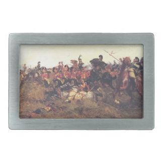 1815年にQuatreのブラの戦い 長方形ベルトバックル
