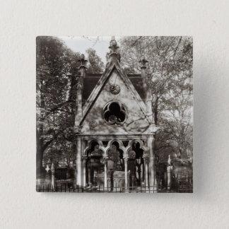 1817年に造られるAbelardおよびHeloiseの墓 5.1cm 正方形バッジ