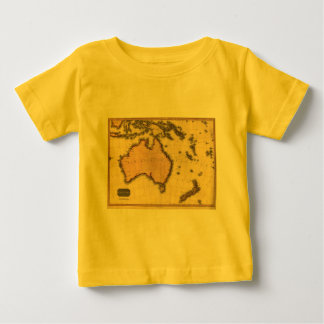 1818年オーストラレーシアの地図-オーストラリア、ニュージーランドの ベビーTシャツ