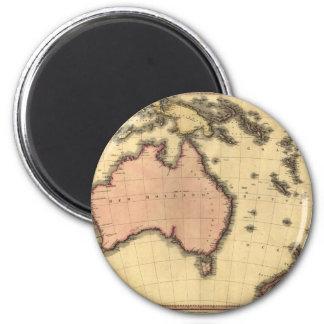 1818年オーストラレーシアの地図-オーストラリア、ニュージーランドの マグネット