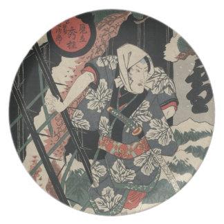 1825年頃日本の雪の武士 プレート