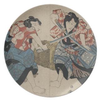 1825年頃武士の剣の戦い プレート