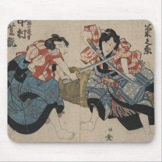 1825年頃武士の剣の戦い マウスパッド