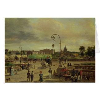 1829年にLaコンコルド広場 カード