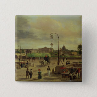 1829年にLaコンコルド広場 5.1cm 正方形バッジ