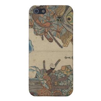 1830年頃巨大なヒキガエルに坐っている武士 iPhone 5 CASE