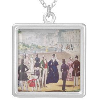 1840年の夏のファッション シルバープレートネックレス