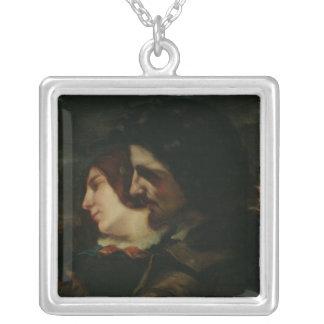 1844年後の田舎の恋人、 シルバープレートネックレス