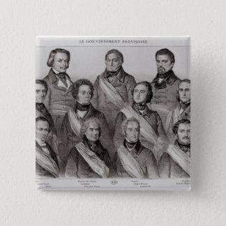 1848年の暫定政権 5.1CM 正方形バッジ