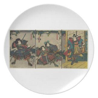 1850年の日本頃武士の戦士 プレート