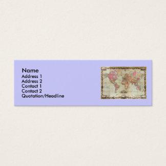 1854年頃ジョンColton著旧式な世界地図、 スキニー名刺