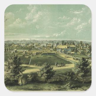 1857年からのWaukeshaウィスコンシン市 スクエアシール