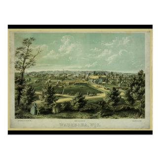 1857年からのWaukeshaウィスコンシン市 ポストカード