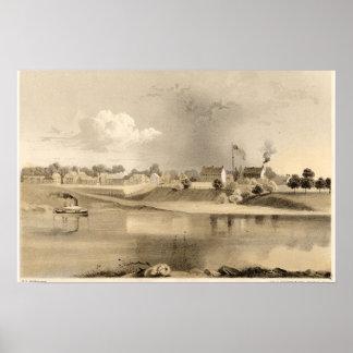 1859年のFort Smithアーカンソーの石版 ポスター