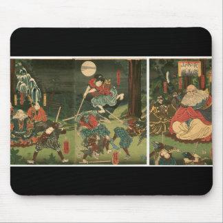 1859年頃Tenguの武士の訓練、 マウスパッド