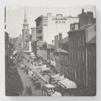1859年:  ワシントン州の通りの交通そして店 ストーンコースター