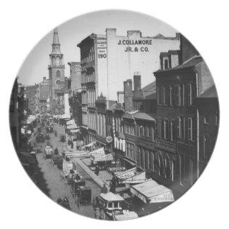 1859年:  ワシントン州の通りの交通そして店 プレート