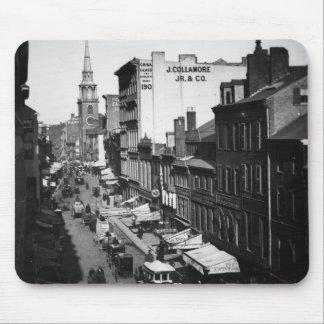 1859年:  ワシントン州の通りの交通そして店 マウスパッド