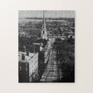 1859年:  州の家からのボストンの眺め ジグソーパズル