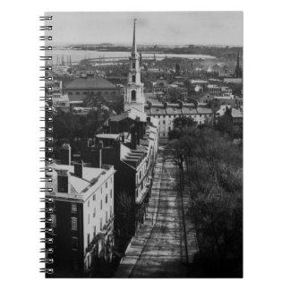 1859年:  州の家からのボストンの眺め ノートブック