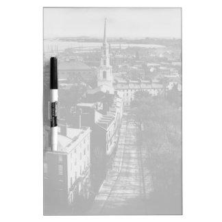 1859年:  州の家からのボストンの眺め ホワイトボード