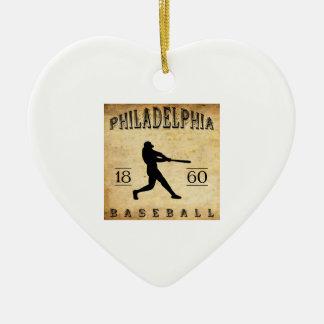 1860年のフィラデルヒィアペンシルバニアの野球 セラミックオーナメント