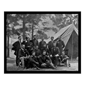 1860年の陸軍士官学校のクラス ポスター