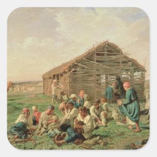 1861年の間の残り干し草にすること スクエアシール