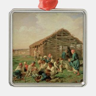 1861年の間の残り干し草にすること メタルオーナメント