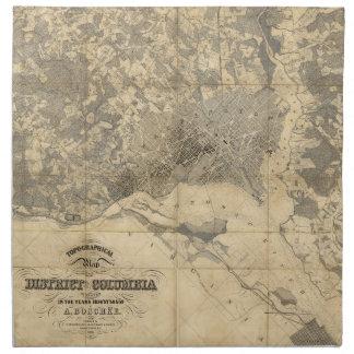 (1861年)コロンビア特別区の地形図 ナプキンクロス