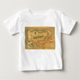 1862内戦の地図の城砦ライオンアレキサンドリアヴァージニア ベビーTシャツ