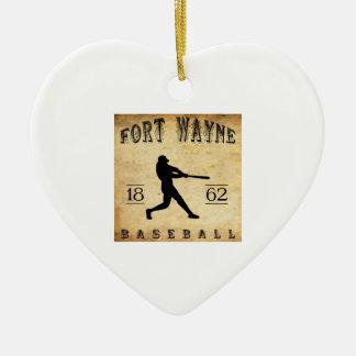 1862年のフォートウェインインディアナの野球 セラミックオーナメント