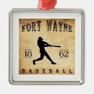 1862年のフォートウェインインディアナの野球 メタルオーナメント