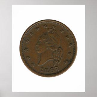 1863内戦トークン ポスター
