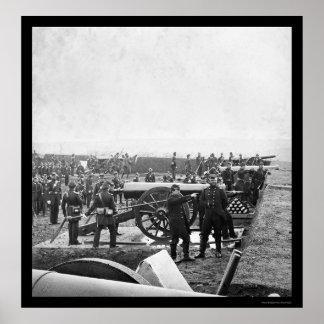 1863年をあけているアーリントンの砲員 ポスター