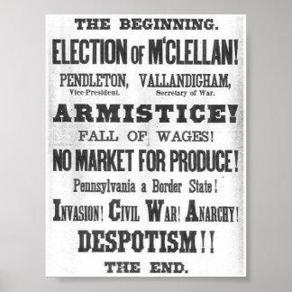 1864年の選挙の舷側 ポスター