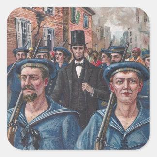 1865年にリッチモンドVAを訪問するリンカーン スクエアシール
