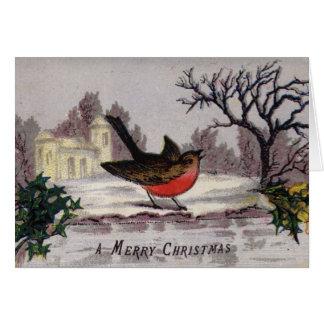 1865年頃: 伝統的なクリスマスのロビン カード