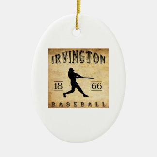 1866年のIrvingtonニュージャージーの野球 セラミックオーナメント