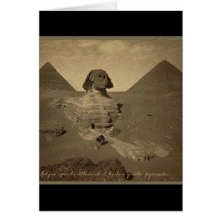 1867年頃エジプトのスフィンクスそしてピラミッド カード