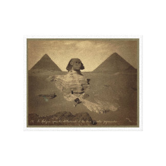 1867年頃エジプトのスフィンクスそしてピラミッド キャンバスプリント